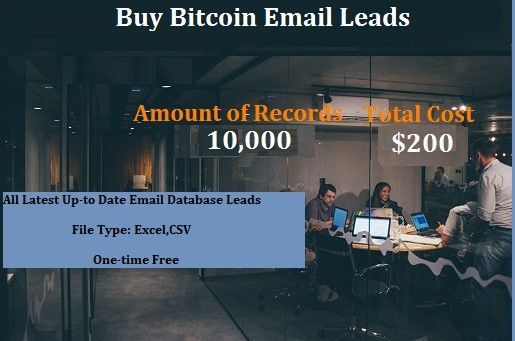 Buy Bitcoin Email Leads