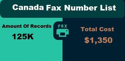 Canada Fax Number List