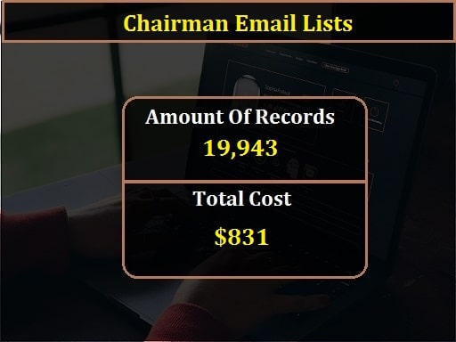 Chairman Email Lists-min