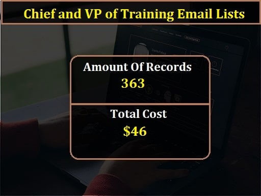 Chief and VP of Training Email Lists-min