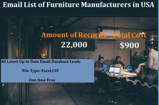 Email List of Furniture Manufacturers in USA