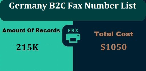 Germany B2C Fax Number