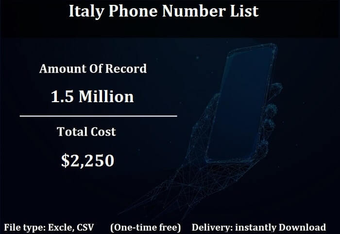 Italy Phone Number List-min