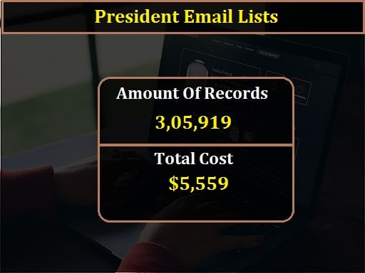 President Email Lists-min