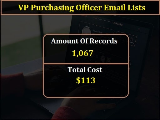 VP Purchasing Officer Email Lists-min