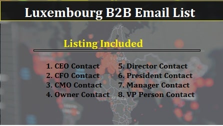 Luxembourg B2B Email-min
