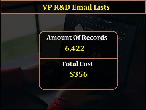 VP R&D Email Lists-min