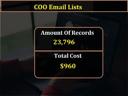 COO Email Lists