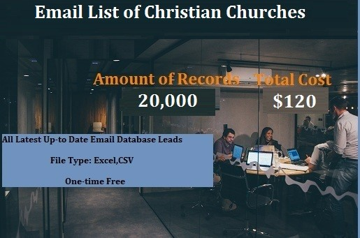 Email List of Christian Churches