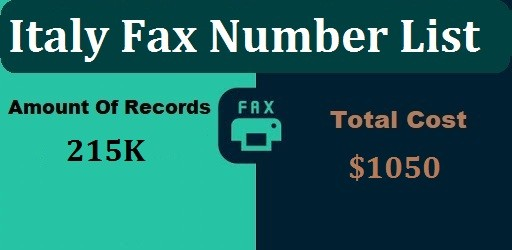 Italy Fax Number list