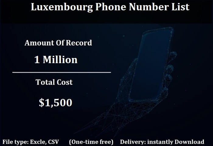 Luxembourg Phone Number List-min