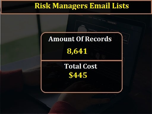 Risk Managers Email Lists-min