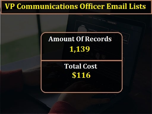 VP Communications Officer Email Lists-min