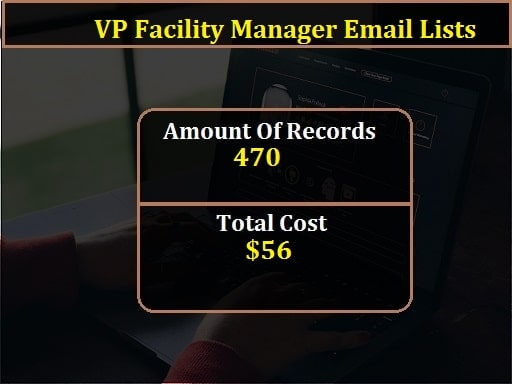 VP Facility Manager Email Lists-min