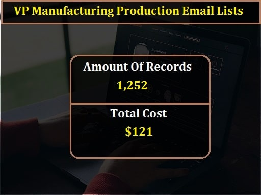 VP Manufacturing Production Email Lists-min