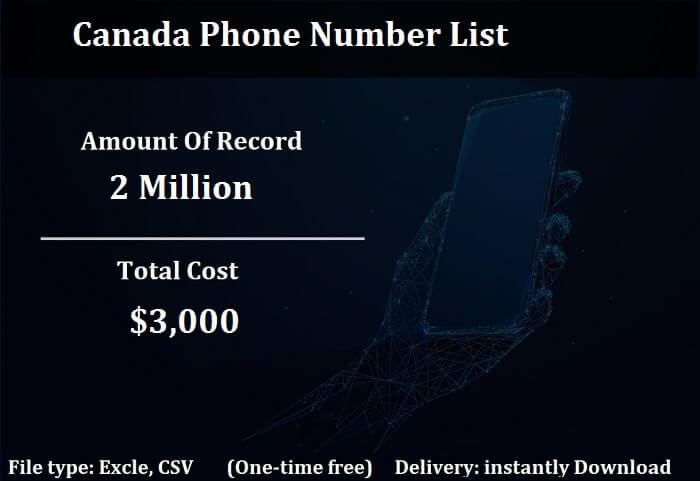 Canada Phone Number List-min